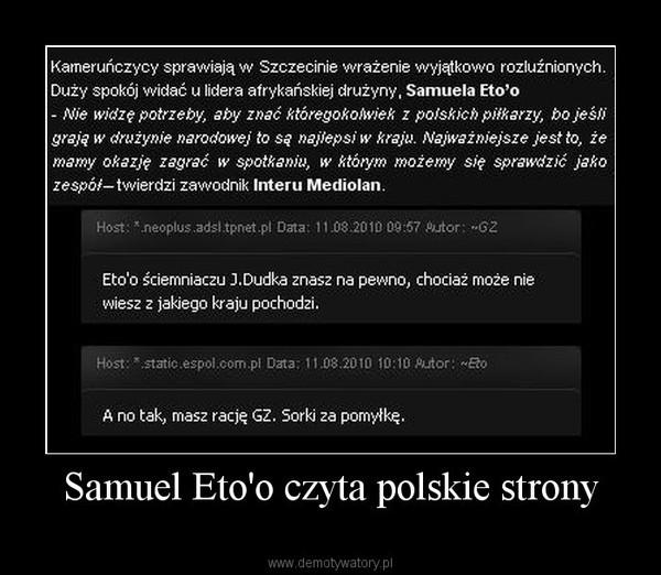 Samuel Eto'o czyta polskie strony –