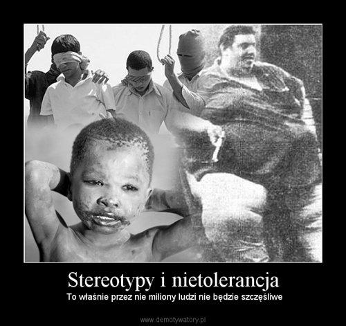Stereotypy i nietolerancja