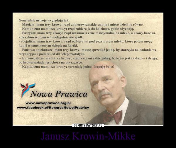 Janusz Krowin-Mikke –