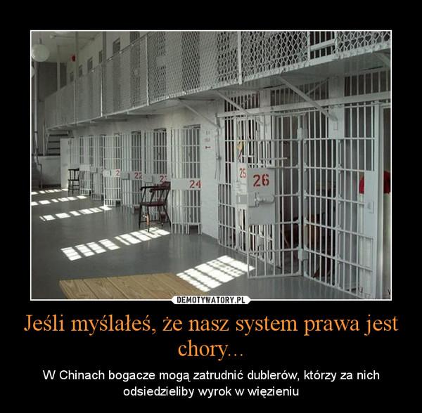 Jeśli myślałeś, że nasz system prawa jest chory... – W Chinach bogacze mogą zatrudnić dublerów, którzy za nich odsiedzieliby wyrok w więzieniu