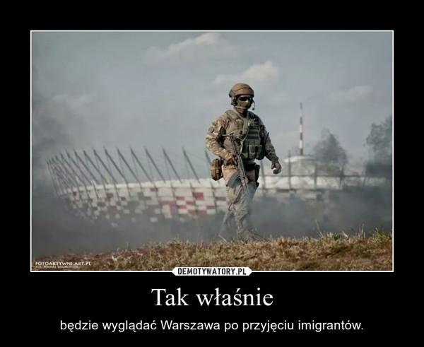 Tak właśnie – będzie wyglądać Warszawa po przyjęciu imigrantów.
