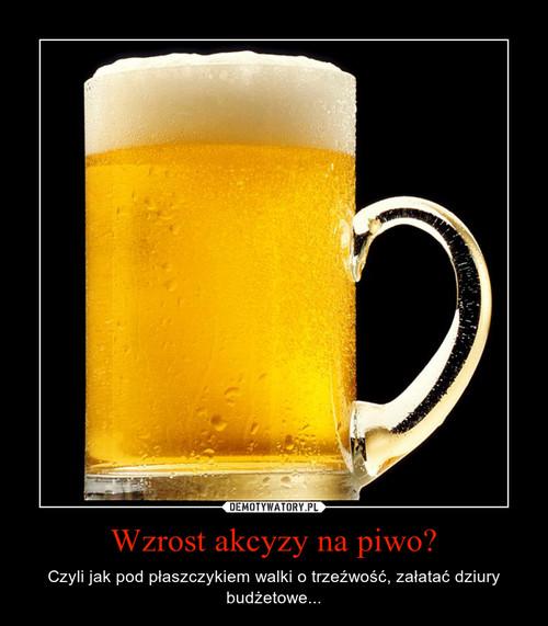 Wzrost akcyzy na piwo?