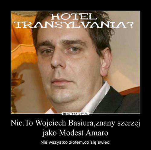 Nie.To Wojciech Basiura,znany szerzej jako Modest Amaro