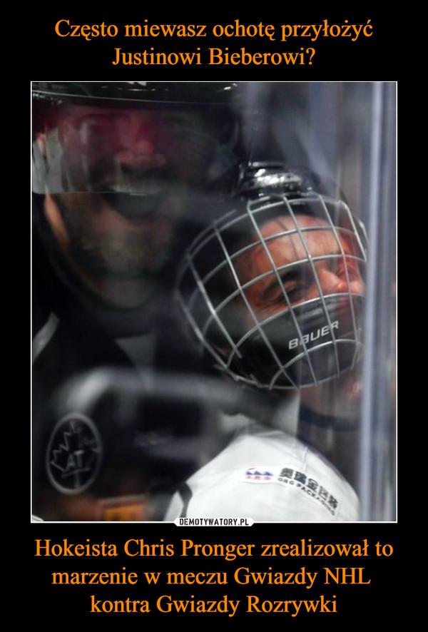 Hokeista Chris Pronger zrealizował to marzenie w meczu Gwiazdy NHL kontra Gwiazdy Rozrywki –