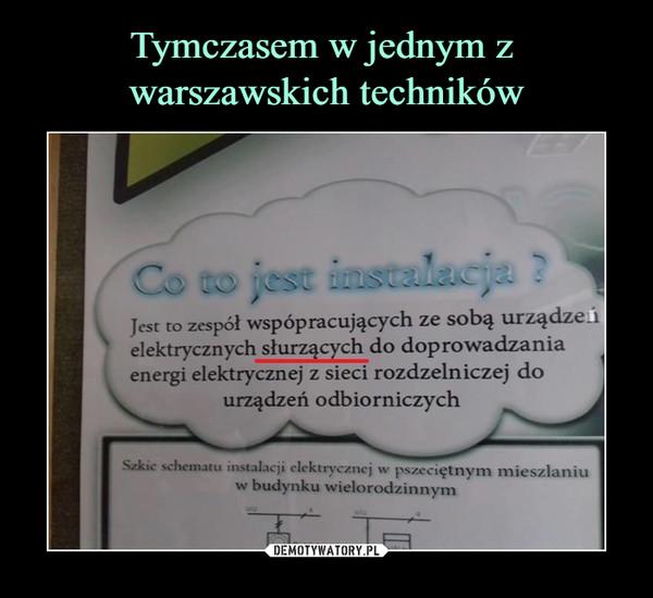 –  Jest co zespół współpracujących ze sobą urządzęńelektrycznych słurzących do doprowadzaniaenergi elektrycznej z sieci rozdzelniczej dourządzeń odbiorczych