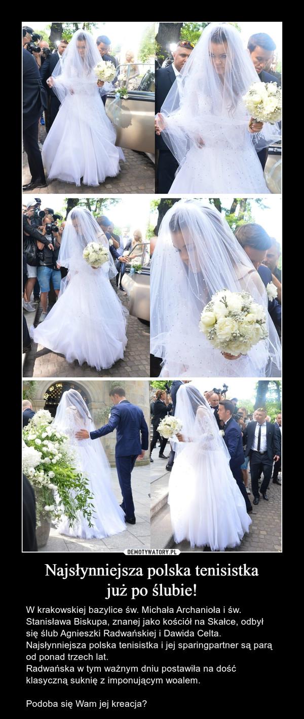Najsłynniejsza polska tenisistka już po ślubie!
