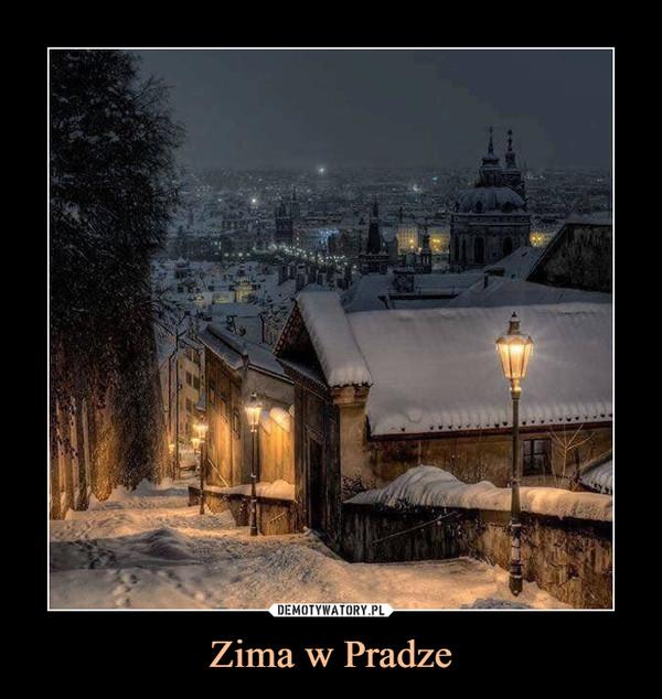 Zima w Pradze –