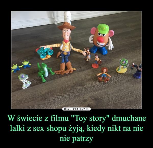 """W świecie z filmu """"Toy story"""" dmuchane lalki z sex shopu żyją, kiedy nikt na nie nie patrzy –"""