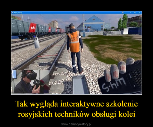 Tak wygląda interaktywne szkolenie rosyjskich techników obsługi kolei –