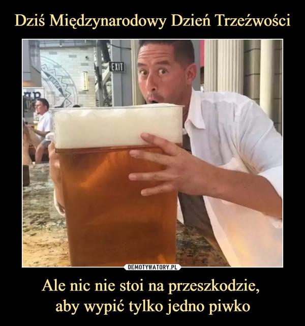 Ale nic nie stoi na przeszkodzie, aby wypić tylko jedno piwko –