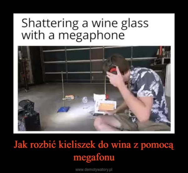 Jak rozbić kieliszek do wina z pomocą megafonu –