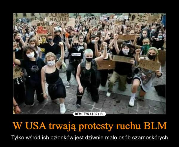 W USA trwają protesty ruchu BLM – Tylko wśród ich członków jest dziwnie mało osób czarnoskórych