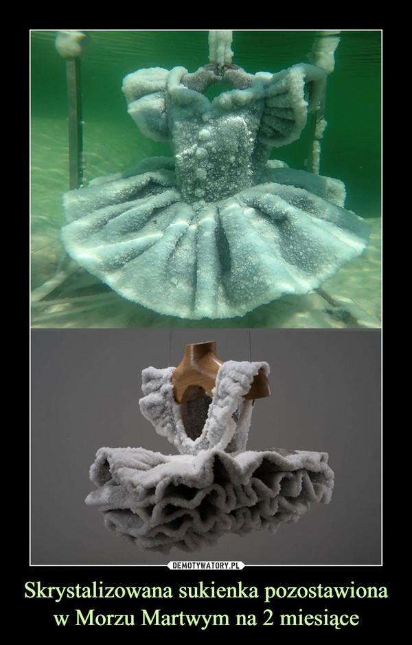 Skrystalizowana sukienka pozostawiona w Morzu Martwym na 2 miesiące –