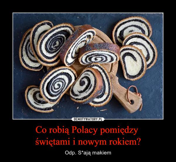 Co robią Polacy pomiędzy świętami i nowym rokiem? – Odp. S*ają makiem