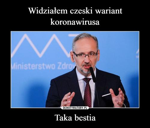 Widziałem czeski wariant koronawirusa Taka bestia