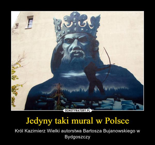 Jedyny taki mural w Polsce – Król Kazimierz Wielki autorstwa Bartosza Bujanowskiego w Bydgoszczy