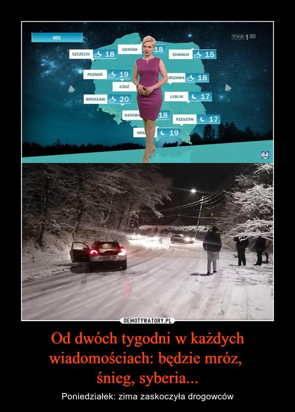 Od dwóch tygodni w każdych wiadomościach: będzie mróz, śnieg, syberia... – Poniedziałek: zima zaskoczyła drogowców
