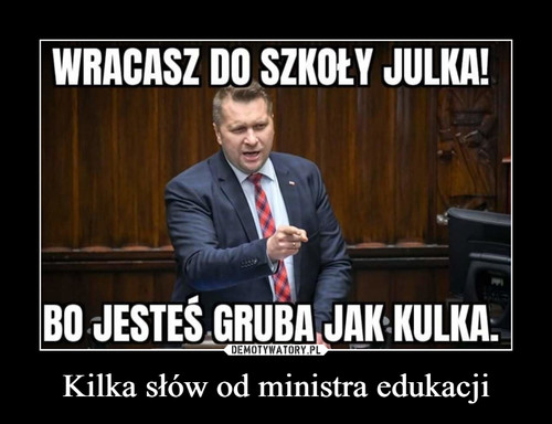 Kilka słów od ministra edukacji