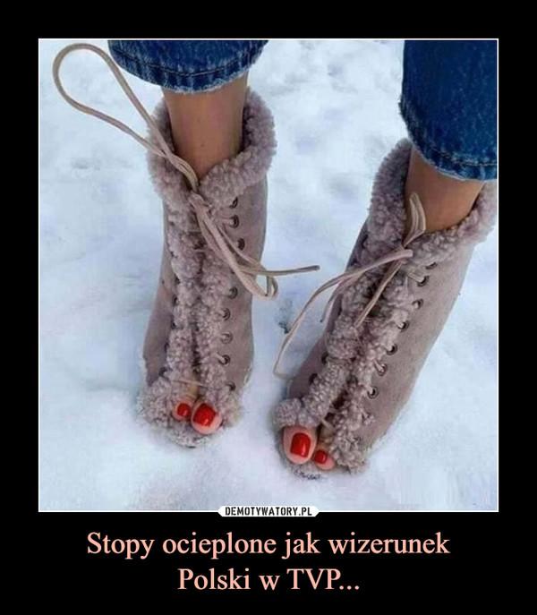 Stopy ocieplone jak wizerunekPolski w TVP... –