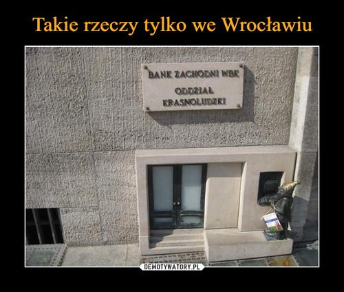 Takie rzeczy tylko we Wrocławiu