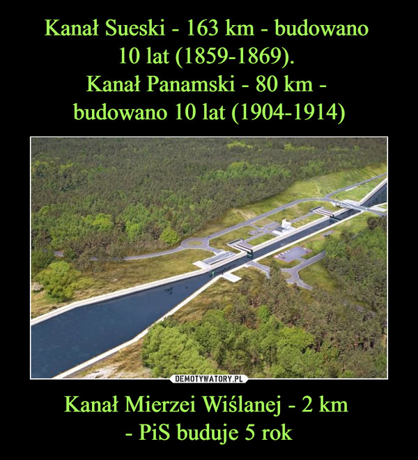 Kanał Mierzei Wiślanej - 2 km - PiS buduje 5 rok –