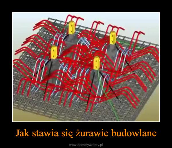 Jak stawia się żurawie budowlane –