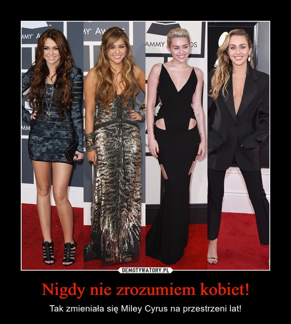 Nigdy nie zrozumiem kobiet! – Tak zmieniała się Miley Cyrus na przestrzeni lat!