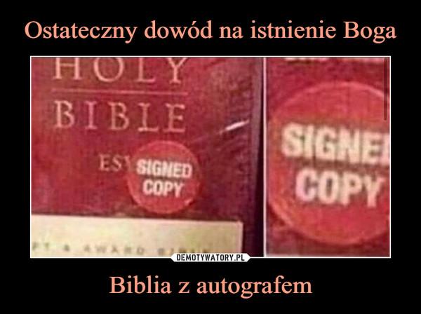Biblia z autografem –