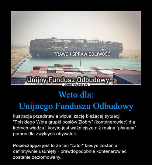 Weto dla: Unijnego Funduszu Odbudowy