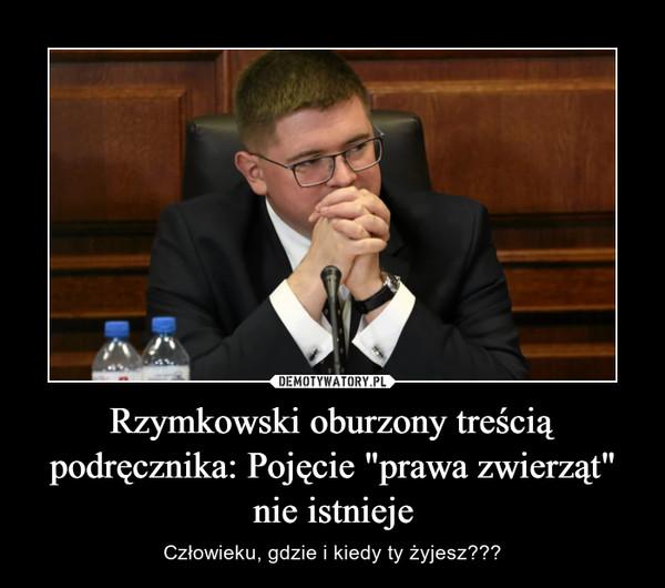 """Rzymkowski oburzony treścią podręcznika: Pojęcie """"prawa zwierząt"""" nie istnieje – Człowieku, gdzie i kiedy ty żyjesz???"""