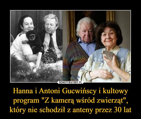 """Hanna i Antoni Gucwińscy i kultowy program """"Z kamerą wśród zwierząt"""", który nie schodził z anteny przez 30 lat –"""