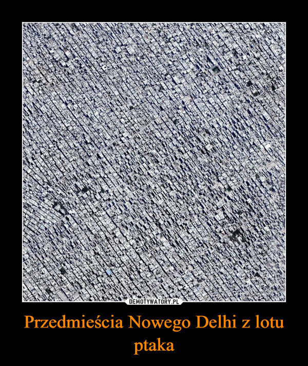 Przedmieścia Nowego Delhi z lotu ptaka –