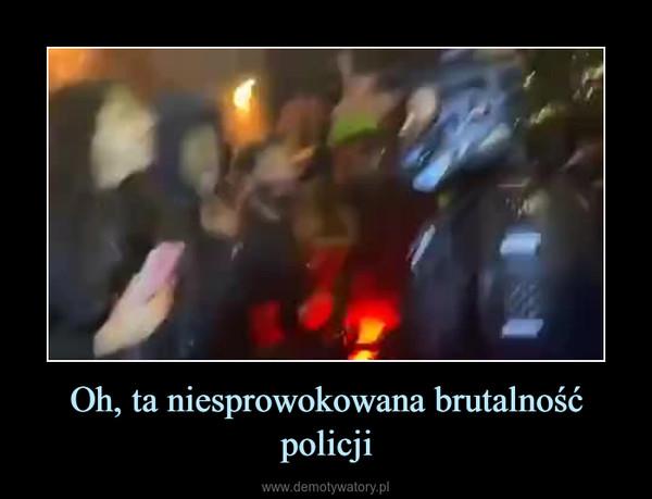 Oh, ta niesprowokowana brutalność policji –