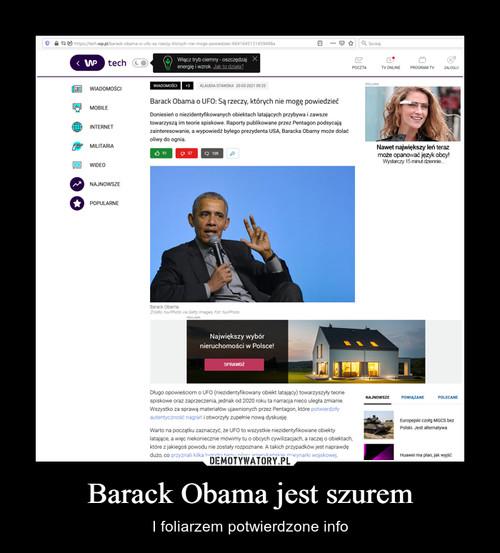 Barack Obama jest szurem