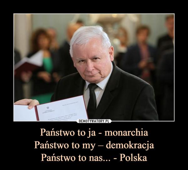Państwo to ja - monarchiaPaństwo to my – demokracjaPaństwo to nas... - Polska –