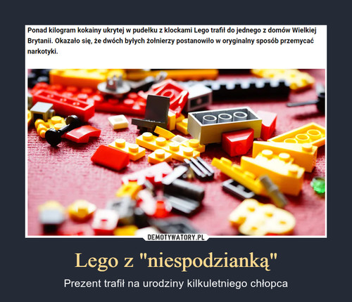 """Lego z """"niespodzianką"""""""