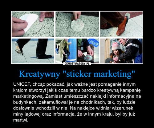 """Kreatywny """"sticker marketing"""""""