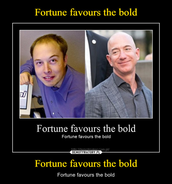 Fortune favours the bold – Fortune favours the bold