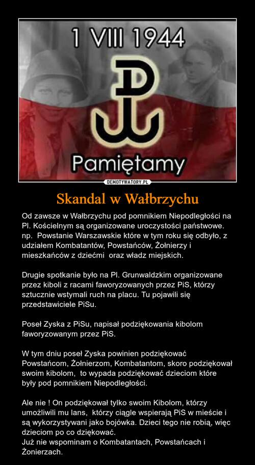 Skandal w Wałbrzychu