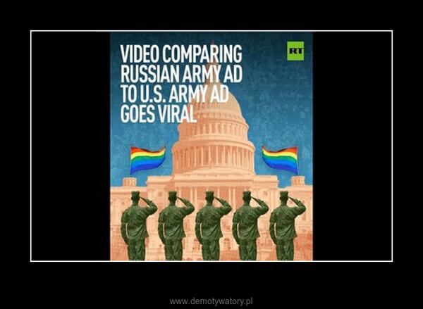 USA vs Rosja reklama zachęcająca do wstąpienia w szeregi armii –