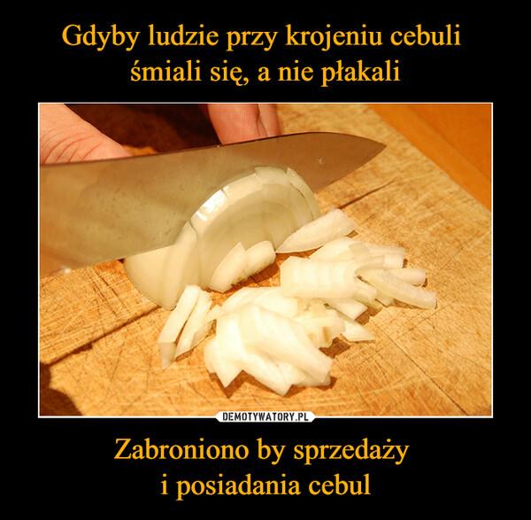Zabroniono by sprzedaży i posiadania cebul –